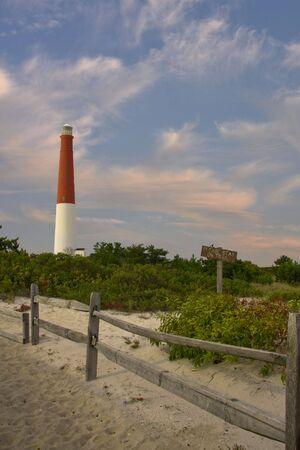 new jersey: Long Beach Island New Jersey Light house Stock Photo