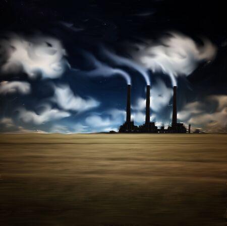 Painted Factory Landscape photo