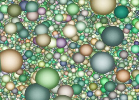 Muted color spheres background photo