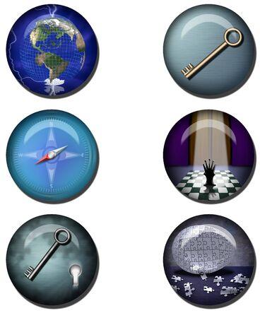 Concepts Web Buttons Reklamní fotografie