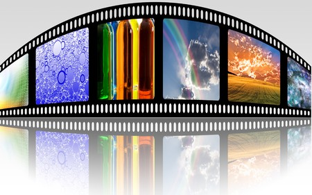 movie screen: FIlm Strip Stock Photo