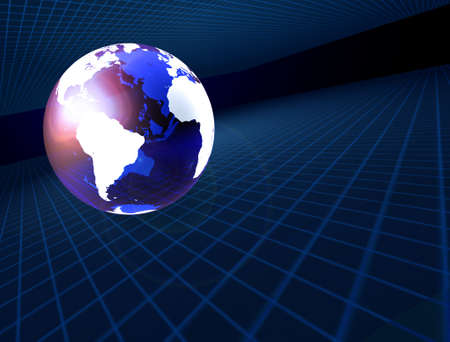 World and Grid Stok Fotoğraf