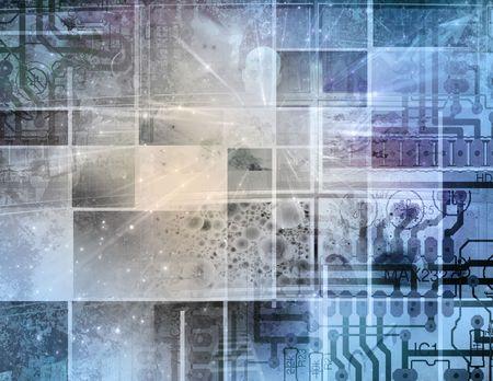 componentes: Tecnolog�a de circuito  Foto de archivo