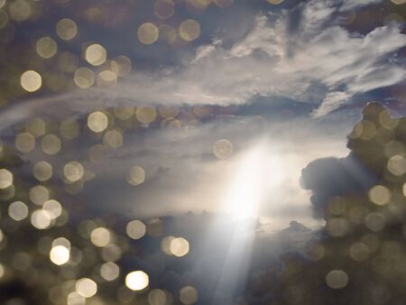 Light beams through Clouds photo