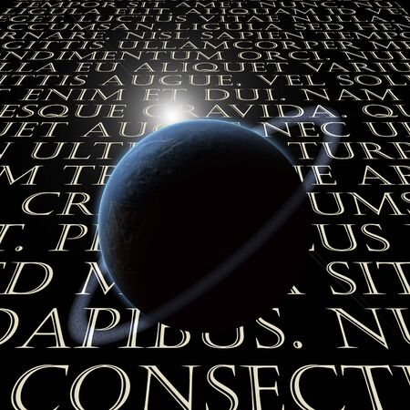 Latin Text with planet Stock Photo - 7323470