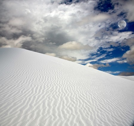 Full moon at White Sands New Mexico Stock Photo - 7323463