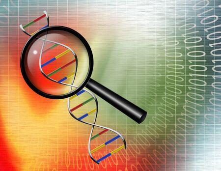 Binary Tunnel und DNA-Strang Standard-Bild - 7352650