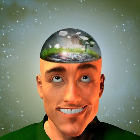 enclosed: Environment enclosed in Mans head
