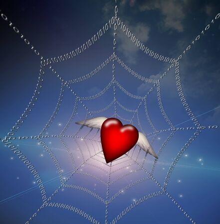 Heart in Binary Web photo