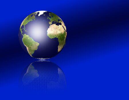 Earth reflects binary code Stock Photo - 7652652