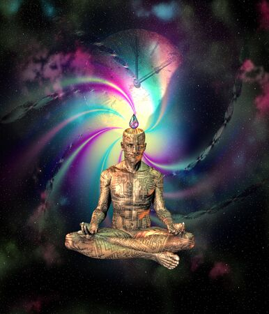 digital clock: Sci Fi Meditation