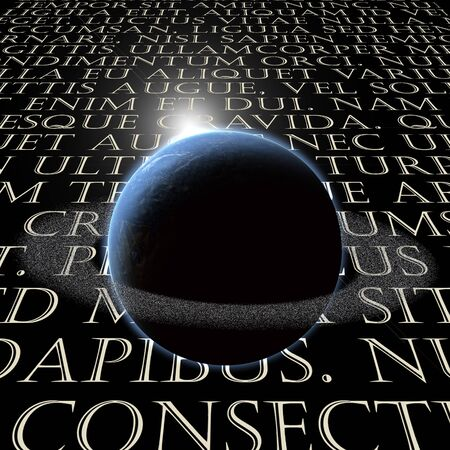 Latin Text with planet Stock Photo - 7652683