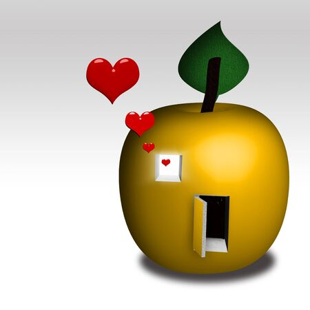 Illustrated Apple home for family