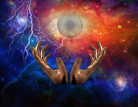 All seeing Eye and Space Stock Photo - 7869875