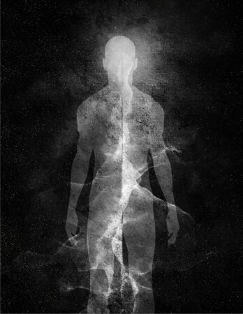 ethereal: Abstract Man of light