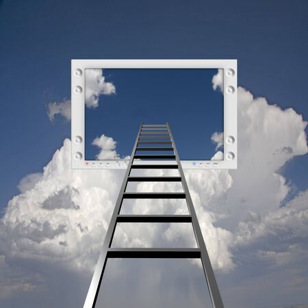 Ladder lead into Flat Panel Stock Photo - 7869834