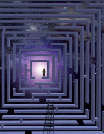 Man in maze photo