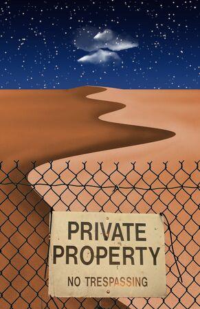 exclude: Desert Fence Stock Photo
