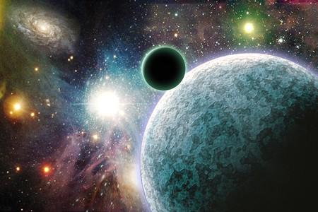 Hoge resolutie planeten in de ruimte Stockfoto