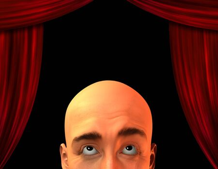 theatrical performance: High Resolution Stage with close up mans head