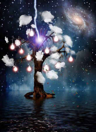 aura energy: Alta risoluzione eterna Tree