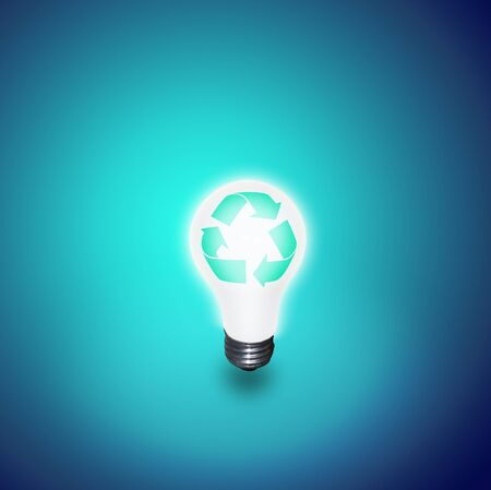 global thinking: Recycle Idea Bulb