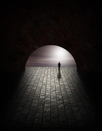 tunel: Hombre de misterio en t�nel
