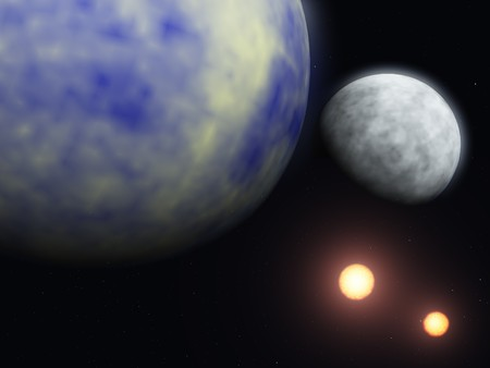 Planet and cosmos photo