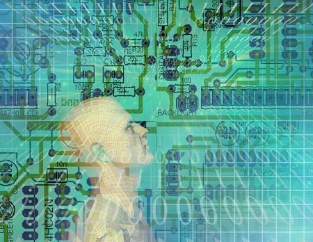 microchip: Circuit Technology Stock Photo