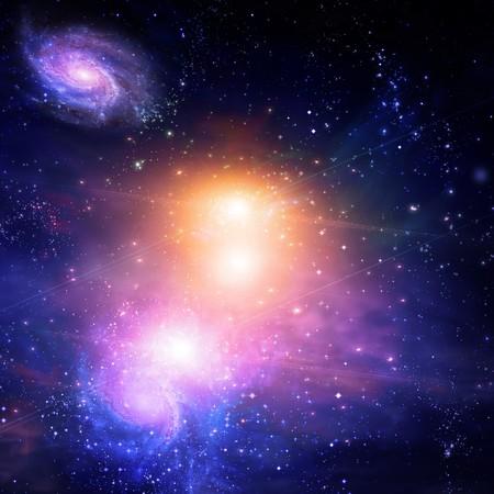 estrellas moradas: Espacio gal�ctico