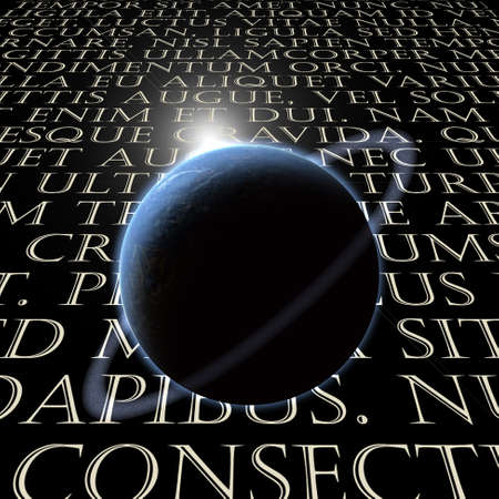 Latin Text with planet Stock Photo - 8306007