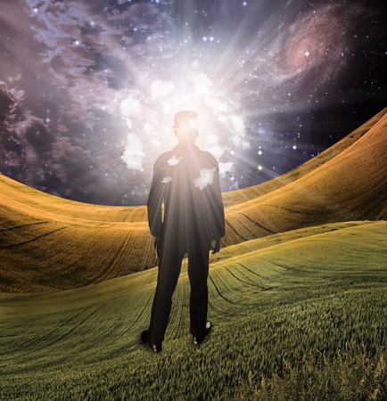 surreal landscape: Light of mind