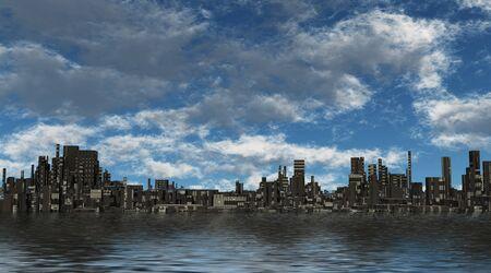 apocalyptic: Future City Stock Photo