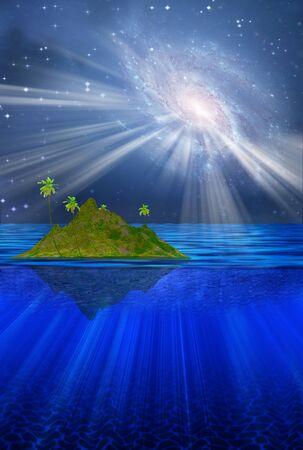 floating: Floating Tropical Island