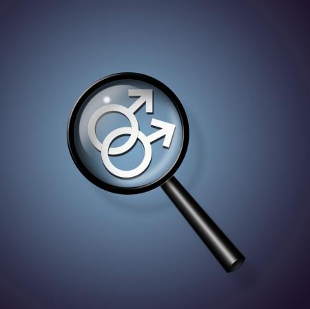 2 Male Symbols Linked Together