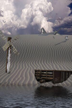 Desert Landscape After Man photo