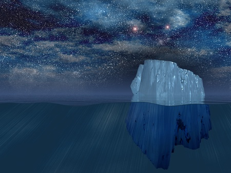 under the surface: Iceberg at night