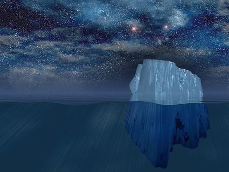 ice surface: Iceberg at night