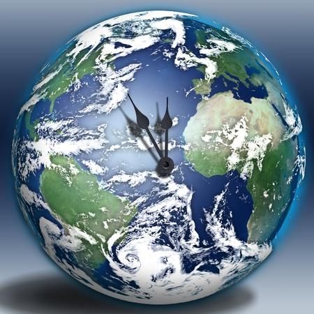 지구 시계 스톡 콘텐츠 - 8437555