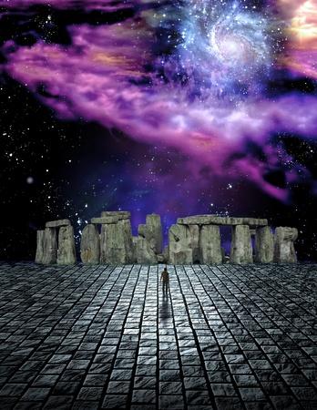 sci: Estructura de sci fi de piedra escena de ike