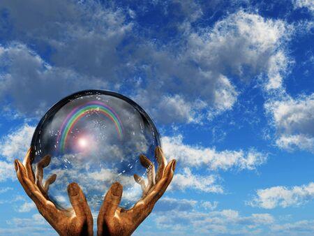 the end of a rainbow: Arco iris cielo visto en el mundo