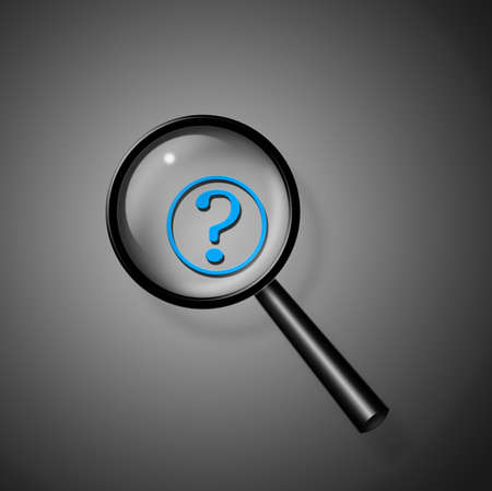 Magnifying glass question Stock Photo - 8484713
