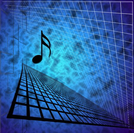 Music Note with Abstract Background photo