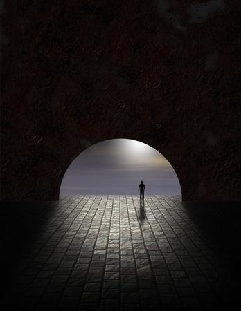 トンネル: トンネル内の謎の男