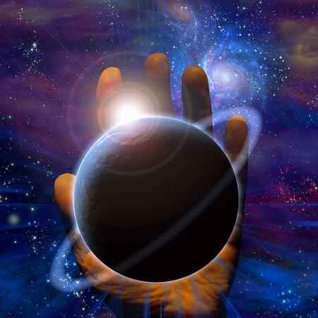 mano de dios: Mano de creaciones Foto de archivo