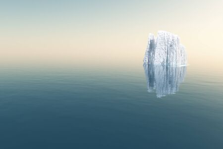 icebox: High Resolution Iceberg in open sea Stock Photo