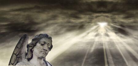Angel and dramatic Sky photo