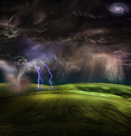 Tornado in stormy landscape Stock Photo - 8716584