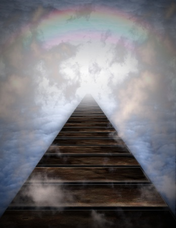 Path into clouds photo