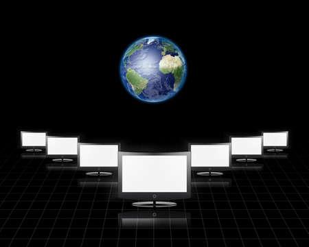flat earth: Global Communications